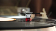 A running turntable - stock footage