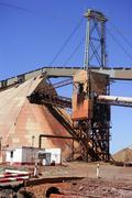Excavation metal outdoor mine Riotinto - stock photo