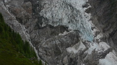 Stock Video Footage of Meltwater comming of Bossons glacier Chamonix