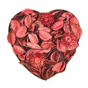 Heart filled with medley potpourri - stock photo