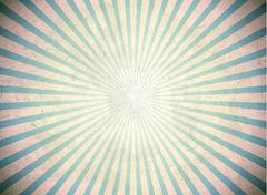 Blue vintage rays - stock illustration