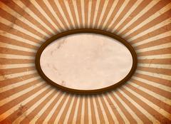 Ellipse frame with rays Stock Illustration