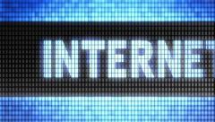"""Internet"" on screen. Looping. Stock Footage"