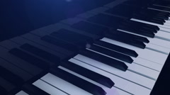 Invisible pianist plays the Grand piano Stock Footage