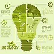 Environment, ecology infographic elements. Environmental risks, ecosystem. Te Stock Illustration