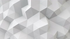 White polygonal geometric surface seamless loop 4k UHD (3840x2160) Stock Footage