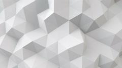 White polygonal geometric surface seamless loop 4k UHD (3840x2160) Arkistovideo