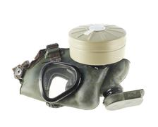 Army gas mask isolated Stock Photos