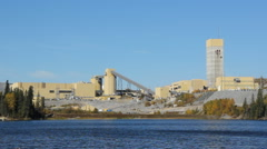 Gold mine and mill in Northwestern Ontario, Canada. - stock footage