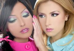 Barbie women doll 1980s style fahion makeup - stock photo