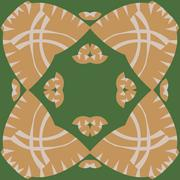 Symmetrical Abstract Brown Pattern Stock Illustration