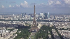 The  Eiffel Tower (in 4K) viewed from the Tour Montparnasse, Paris, France. - stock footage