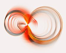 Abstract fractal design. Red infinity sign on white. - stock illustration