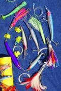 Big game fishing lures hook for tuna marlin Stock Photos