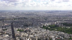 Aerial view of Paris from the Tour Montparnasse, Paris, France. - stock footage