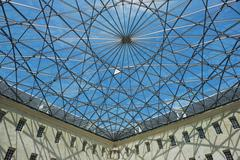Modern roof at the courtyard of Maritime Museum, Amsterdam, Netherlands. - stock photo