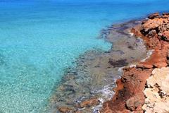 Formentera Cala Saona mediterranean best beaches - stock photo