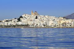 Stock Photo of Altea Alicante province Spain view from blue sea