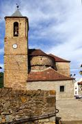 Stock Photo of Romanesque cathedral church in Hecho Aragon
