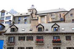 Sallent de Gallego Pyrenees stone village Huesca - stock photo