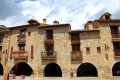 Stock Photo of Ainsa medieval romanesque village street Spain