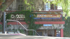 Back of House of Blues on Sunset Strip Stock Footage
