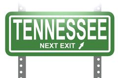 Tennessee green sign board isolated Stock Illustration