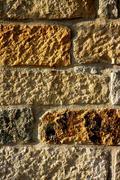 Masonry in Spain, old stone walls - stock photo