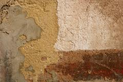 Aged grunge paint old wall background Stock Photos