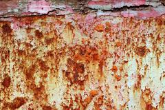 Rusty grunge aged steel iron paint oxidized texture Stock Photos