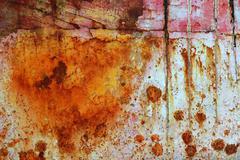 rusty grunge aged steel iron paint oxidized texture - stock photo