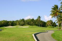 Miami Key Biscayne Golf tropical field Stock Photos