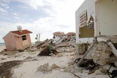 Cancun houses after hurricane storm Stock Photos