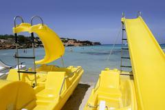 Formentera balearic island Cala Saona Beach - stock photo
