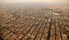 Mexico df city town aerial view from airplane Kuvituskuvat