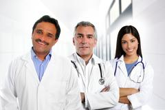 Stock Photo of doctors multiracial expertise indian caucasian latin