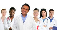 Stock Photo of Indian latin expertise doctor multi ethnic doctors