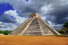Chichen Itza Kukulkan Mayan pyramid Mexico - stock photo