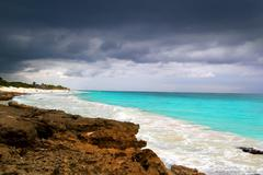 Stock Photo of hurricane tropical storm beginning Caribbean sea