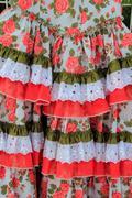 costumes gypsy ruffle dress andalusian Spain - stock photo