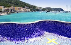 Andratx port in Majorca Balearic island - stock photo