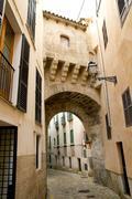 Arches of Barrio Calatrava Los Patios in Majorca at Palma Stock Photos