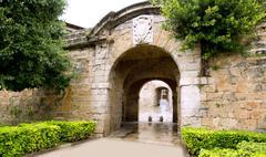 Stock Photo of arches of Barrio Calatrava Los Patios in Majorca at Palma