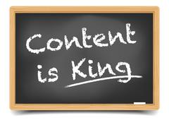 Content is King - stock illustration