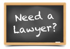 Need a Lawyer - stock illustration