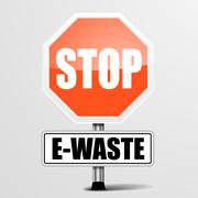 Stop E-Waste Stock Illustration