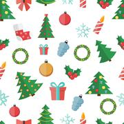 Happy New Year and Marry Christmas Seamless Pattern Background Stock Illustration