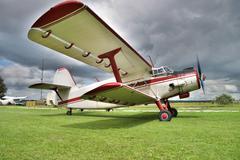 Old biplane Stock Photos
