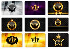 VIP Members Card Set Vector Illustration Stock Illustration