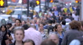 Large crowd people walking crowded street traffic pedestrians New York City NYC 4k or 4k+ Resolution